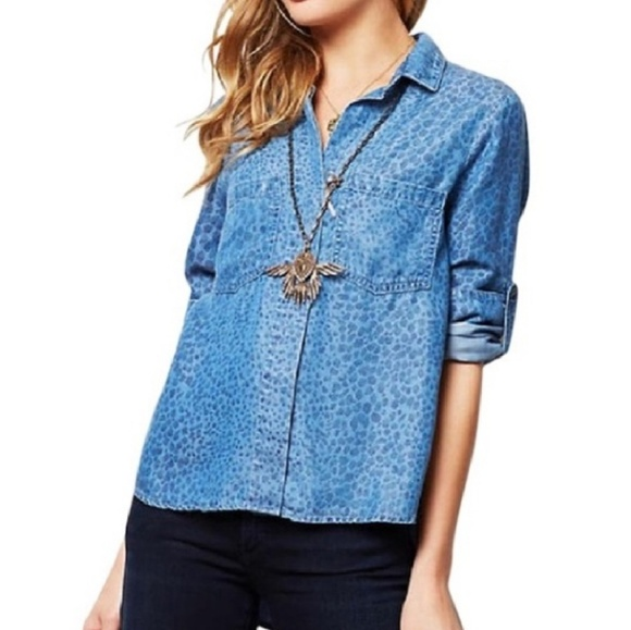 a0a112bb63c7 Anthropologie Tops | Cloth Stone Chambray Top | Poshmark